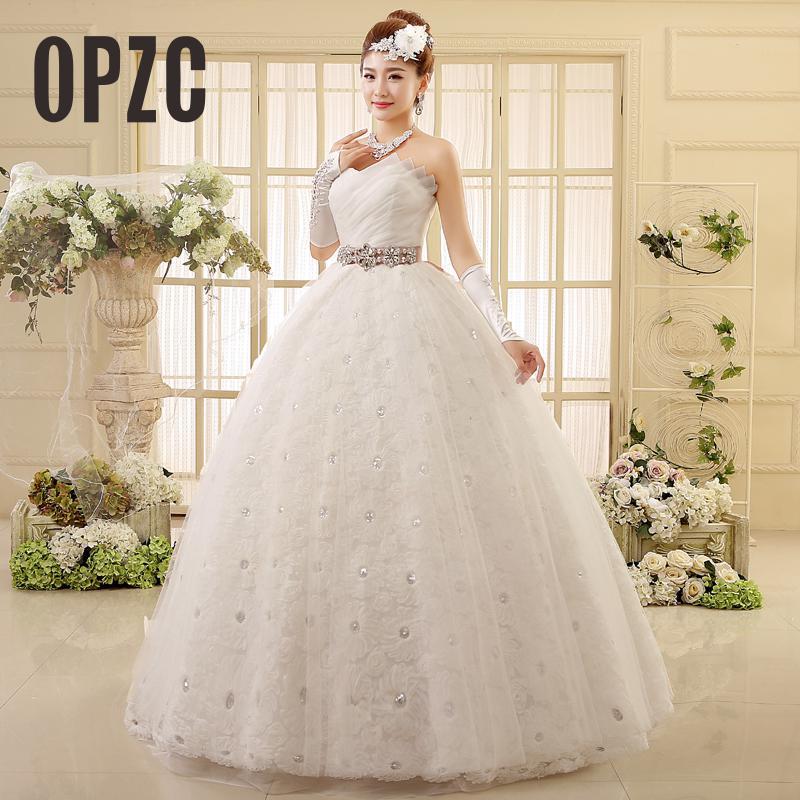Cheap china Real Photo vestido de noiva de 2016 Wedding Dress New Korean  Plus Size White Princess ... dbc6e3de2728
