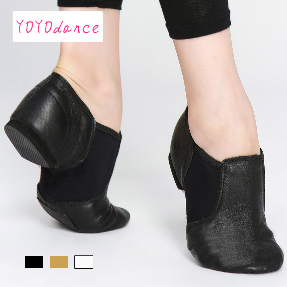 2017 Nuevo Jazz deslizamiento en zapatillas de baile Zapatos para damas negro tan danza Zapatos danza jazz Zapatos para adultos Y los niños 4716