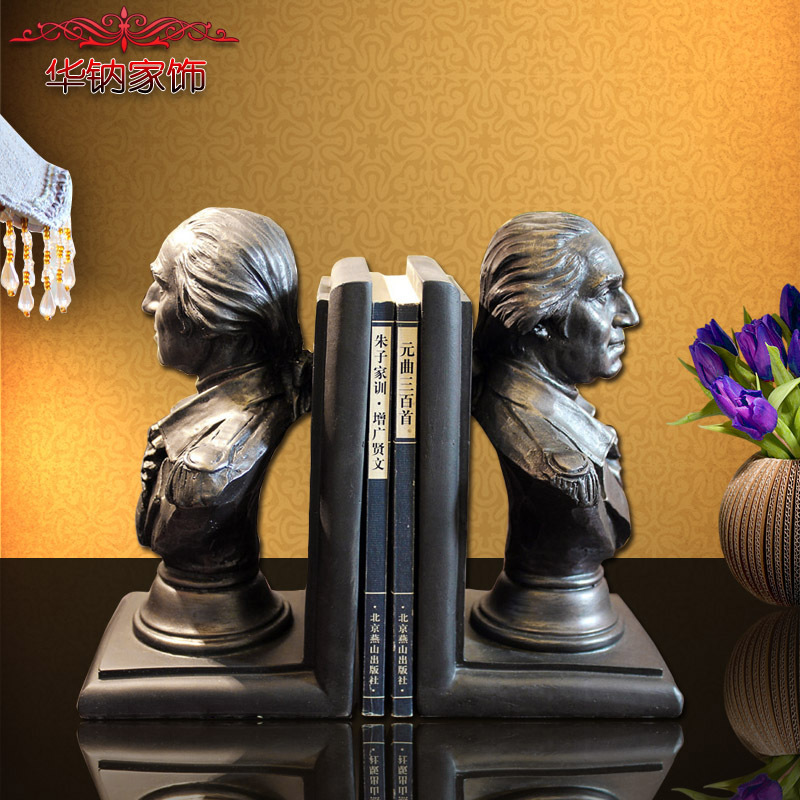 2016 Special Offer Home Furnishing Gift Jewelry Ornaments Resin Desk Washington Head Bookend Factory Direct Wholesale