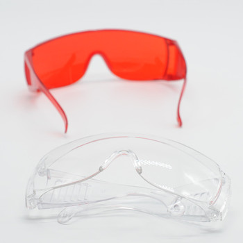 Dental Lab Item Safty Protecitve Goggle Glasses in Eye Curing Light Clear/Red For Dentist