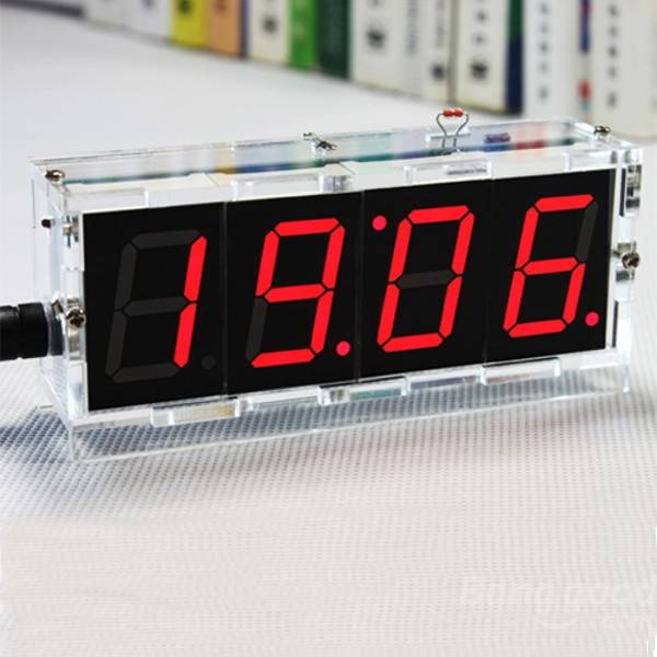 Factory Wholesale Free Shipping DIY 4 Digit LED Ele