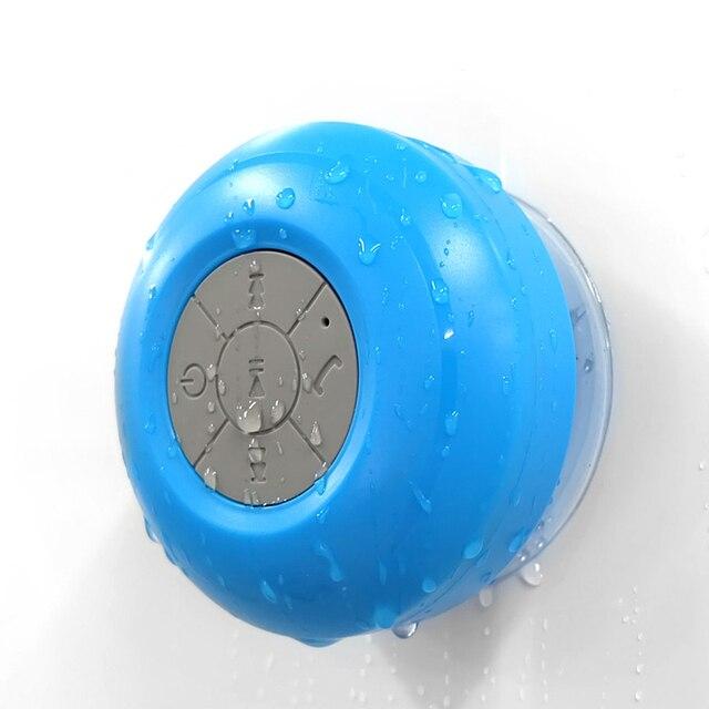 MoreBlue Wireless Bluetooth Speakers Waterproof IPX4 Shower Bathroom Sucker  Loudspeaker Stereo Super Bass Music Player With