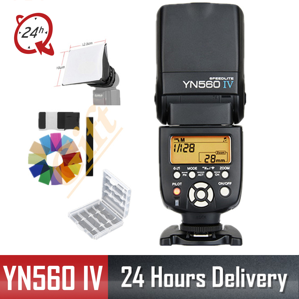 Yongnuo YN 560 IV YN560IV YN 560IV Wireless Master Slave Flash Speedlite for Canon 650D Nikon D7100 D5300 Sony Pentax Olympus-in Flashes from Consumer Electronics    1