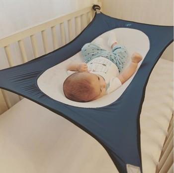 b89f5f7cf Bebés hamaca bebé impreso historieta desmontable plegable Protable cuna  algodón recién nacido cama oscilación del jardín al aire libre