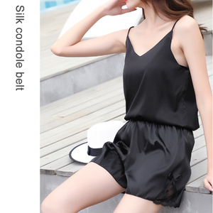 Image 2 - 2019 New Tank Top Women Sleeveless Top Sexy V neck Sling Vest Female Summer Wear Thin Section Loose Satin Silk Top Blouse