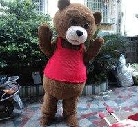 Новые Индивидуальные медведь талисмана Мишка талисман костюм Взрослый размер Бесплатная доставка!