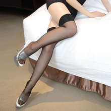 2019 New Fashion Women Sexy transparent Stockings Female fashion Black their Silk stockings