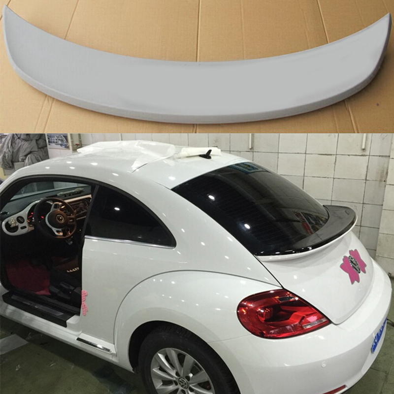 Beetle FRP Primer Rear Middle Trunk Lip Spoiler Wing for Volkswagen VW Beetle 2012-2015 Sport Version pu rear wing spoiler for audi 2010 2011 2012 auto car boot lip wing spoiler unpainted grey primer