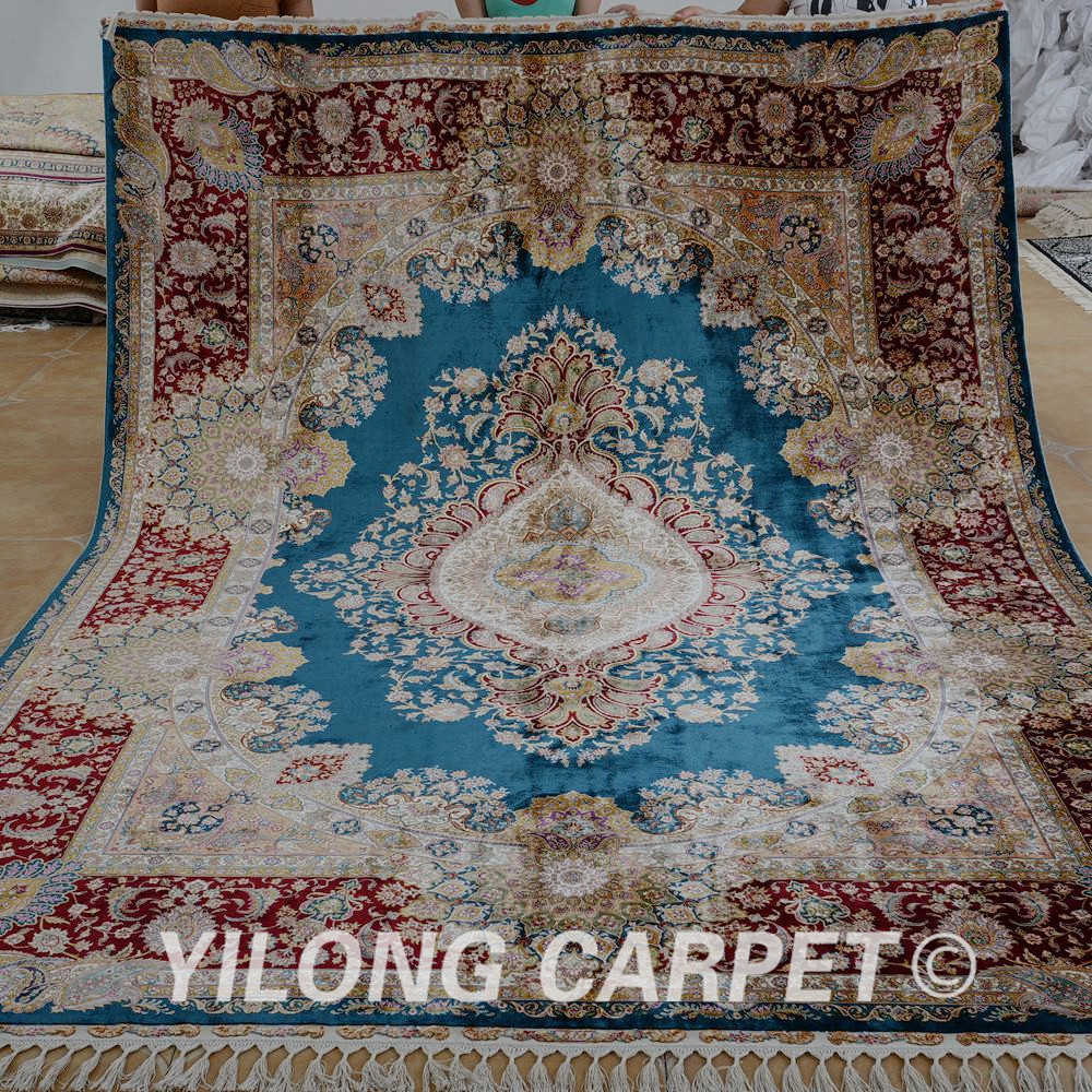 Yilong 7 2 X10 Handmade Tabriz Oriental Rug Antique Green Turkish Carpet 1574