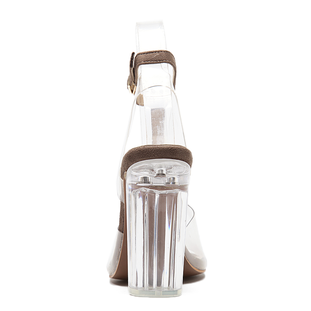 Timesesize mujeres gladiador sandalias señoras bombas tacones altos zapatos  mujer claro transparente t strap fiesta vestido de novia zapatos gruesos en  ... 548969972a80