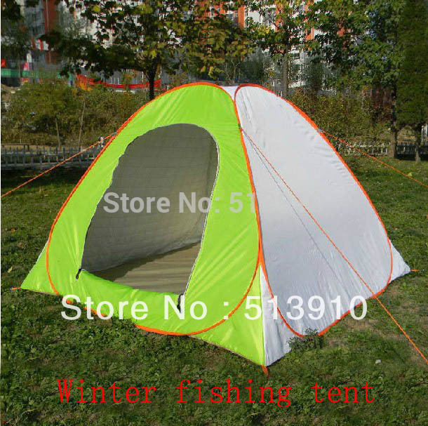 Thichk Ice fishing tent! Professional thick cotton warm winter steel automatic pop up fishing tent