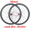 Велосипедное колесо 50 мм QR carbon wheelset 700c clincher 23 мм CX32 hub 100x15 мм 142x12 мм 1420 спицевое 1550g дисковое колесо UD 3K 24H