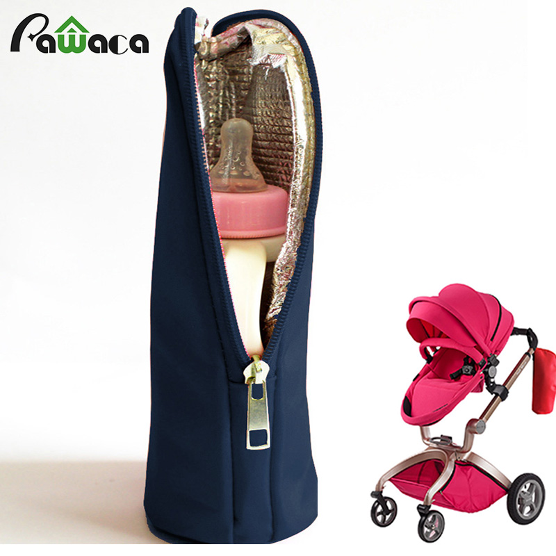 Waterproof 50-350ml Baby Feeding Bottle out door Thermal Bag Keep Warm Cover With Hangin ...