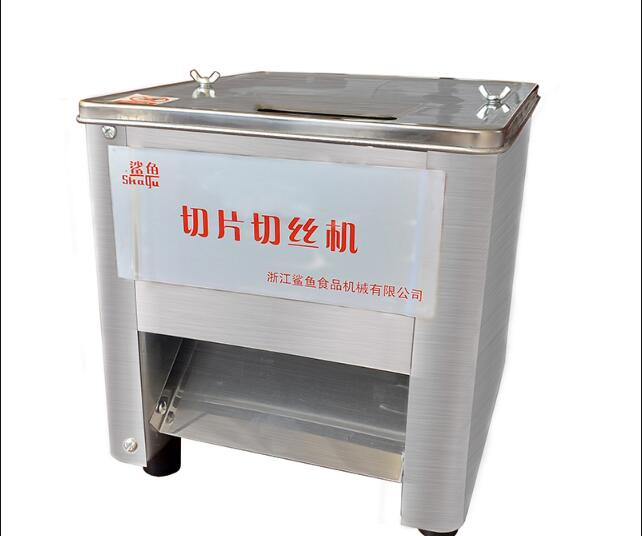 Commercial stainless steel small automatic meat slicer, household pork meat strip dicing machine