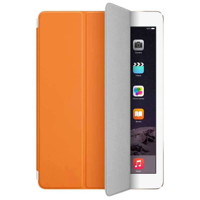 Fashion Magnetic Slim Leather Smart Cover Case Skin For iPad Air 2 Orange