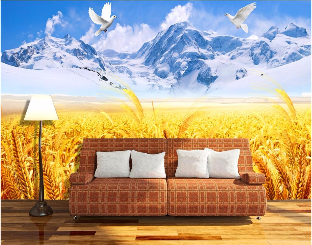 Custom mural 3d photo wallpaper Catcher snow mountain home decor painting 3d wall murals wallpaper for living room walls 3 d