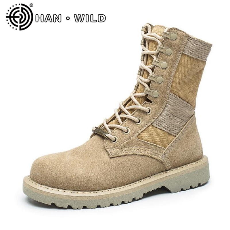 Men Martin Boots Ankle Army Boots Outdoor Men's Tactical Combat Boots Desert Shoes Couples Military Leather Assault Boots