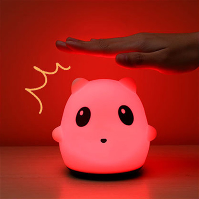 Novelty LED Light Silicone Night Lamp Animal Night Light Multicolor for Child Boy Girls Baby Bedroom Light Christmas Gift
