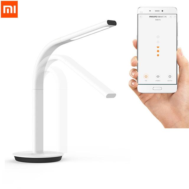 Prix pour D'origine xiaomi mijia télécommande smart desklamp led table lumineuse lampe desklight 10 w double lumière ios android app contrôle 2e