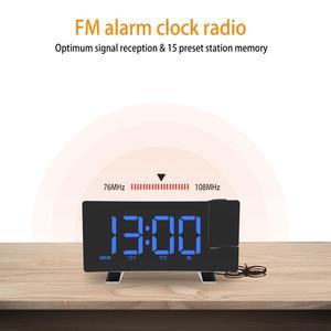 Image 3 - デジタル FM ラジオアラーム時計と投影 4 アラーム音 9 最小スヌーズ機能スリープタイマーため内務省の寝室