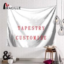 Miracille гобелен с вашим собственным изображением, украшение дома из полиэстера, настенные картины, пляжное полотенце для гостиной, спальни