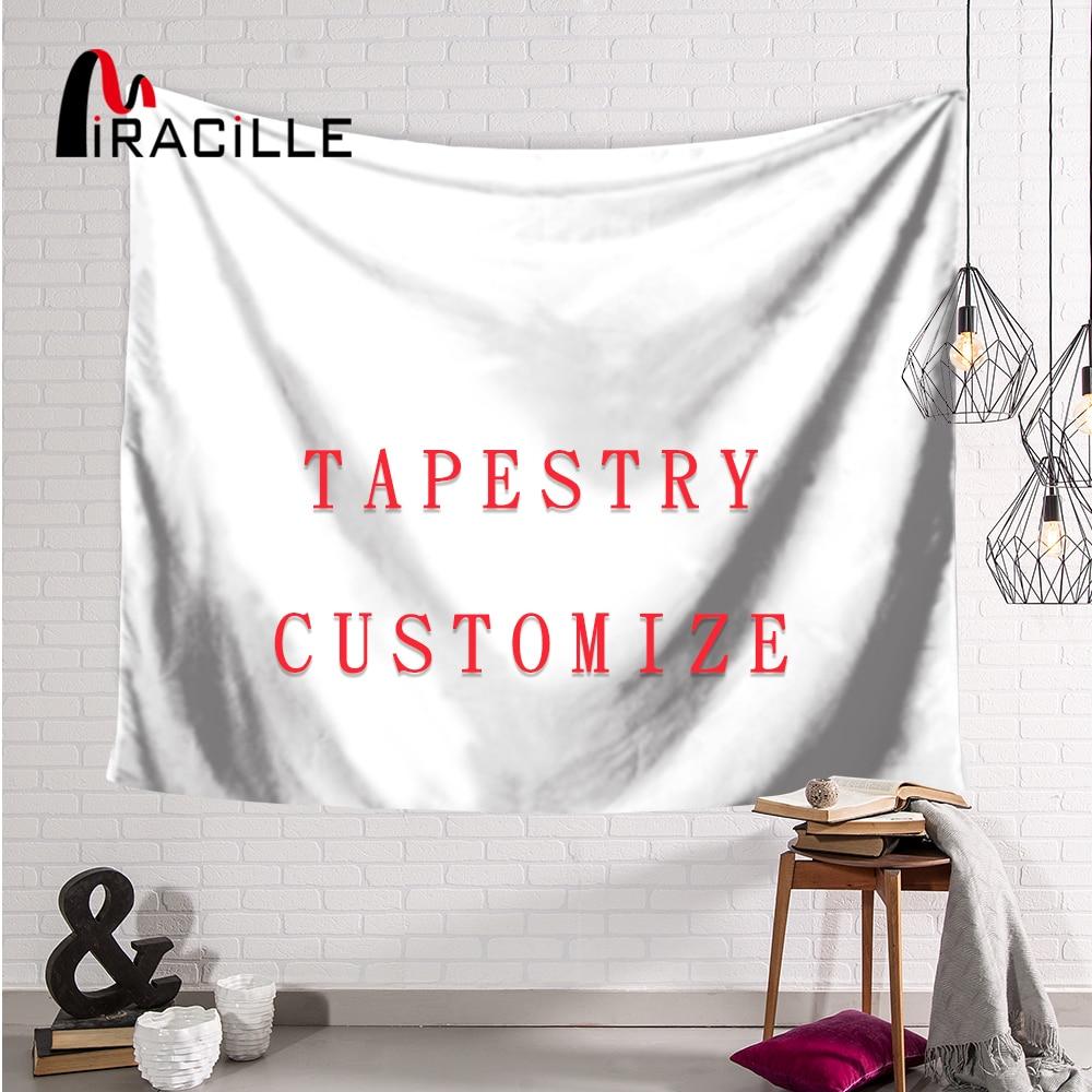 Miracille tapisserie personnalisée avec votre propre Image Polyester décor à la maison tenture murale Art peintures serviette de plage pour salon chambre