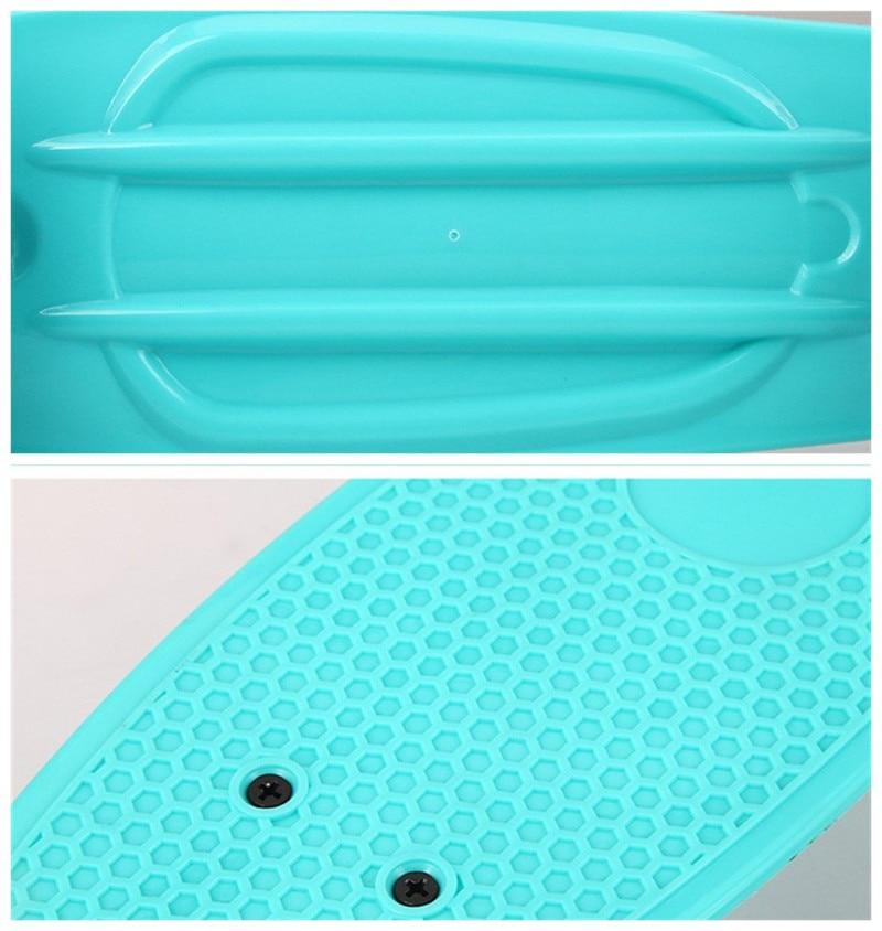 Nouveau Freestyle Cool Mini Cruiser planche à roulettes unique banane Longboard enfants deviennent déformés route Sport Skate Board 10 couleurs - 6