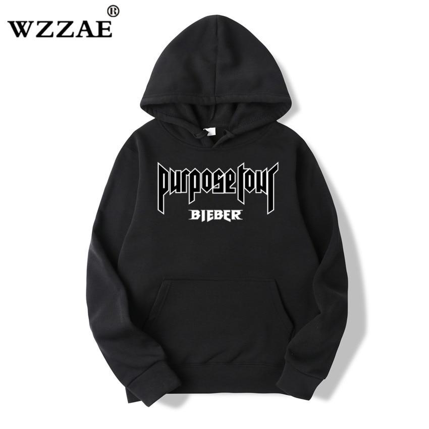 0207f9a7820 WZZAE 2018 Justin Bieber Purpose Tour New Brand Sweatshirt Hoodies Fashion  Men women Hoodies and Sweatshirts Hip Hop Clothes-in Hoodies   Sweatshirts  from ...