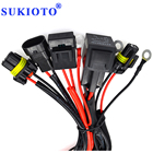 SUKIOTO 40A Relay 9005 9006 H1 H3 H7 H11 D2H Relay Harness Wire Extension Cable Xenon Light Controller H7 Socket Adapter Plugs