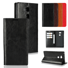 цена на LUCKBUY for Sony Xperia XA2 Plus XA2 Ultra Original Business Ultra thin Genuine Leather Protect Cover for Sony XA2 Ultra Plus