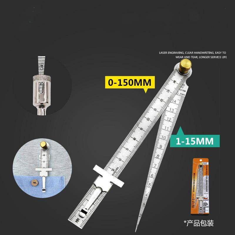 Высокоточный Измеритель зазора, прямая Линейка пробка из Нержавеющей Стали конический внутренний диаметр отверстия Глубина