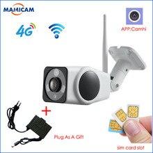 Full HD 1080 P пуля IP Камера Беспроводной GSM 3g 4G sim-карты Wi-Fi Открытый Водонепроницаемая камера видеонаблюдения ИК Ночное видение P2P промышленные