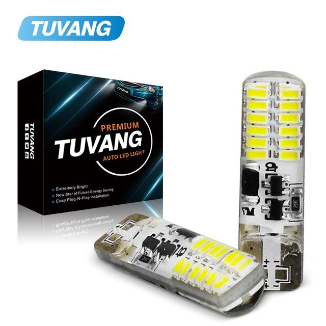 Luces estroboscópicas intermitentes T10 194 W5W 22 Led 3014SMD T10, brillo duradero, Flash estroboscópico automático, dos modos de funcionamiento, bombillas para coche, 2 uds.