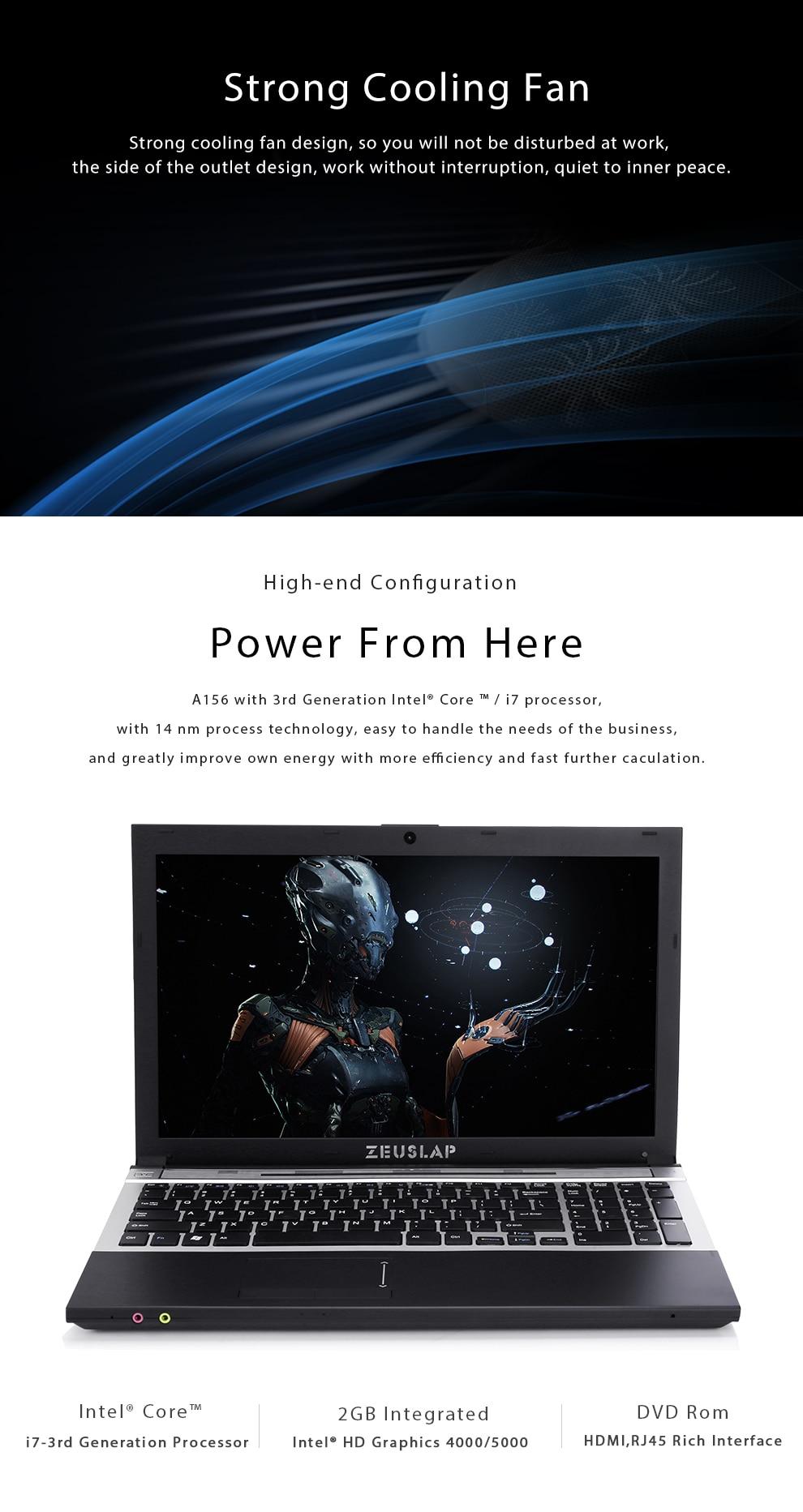 15.6inch intel core i7 8gb ram 500gb HDD 1920x1080 full hd screen  system with DVD ROM Laptop i7 8gb ram 500gb HDD black 6