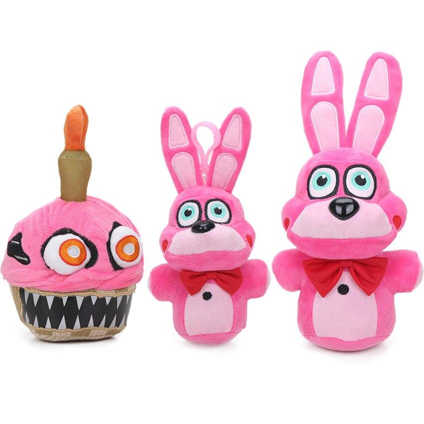 18-30cm New Pink Bonnet FNAF Plush Toys Five Nights at Freddy's Series 2 Nightmare Cupcake Plush Toy Soft Stuffed Animal Dolls