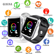 Купить с кэшбэком GIAUSA A1 Smart Watch Smartwatch Bluetooth Wrist Sport Watch SIM TF Phone Camera For Apple iPhone Android XiaoMi Men Watch GT08