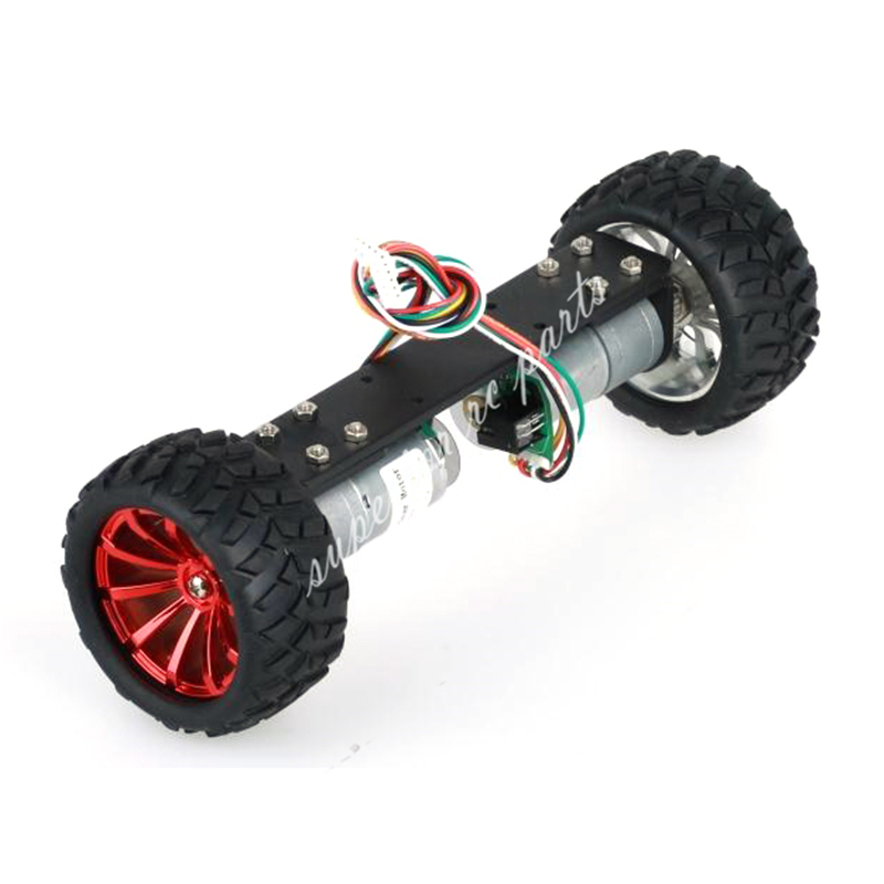JGA25-360 Two Wheeled Vehicle Wheel Frame RC Car Chassis Balance Car with 1:21 Motor xuankun atv electric three wheeled four wheeled vehicle front suspension steering brake system rocker assembly