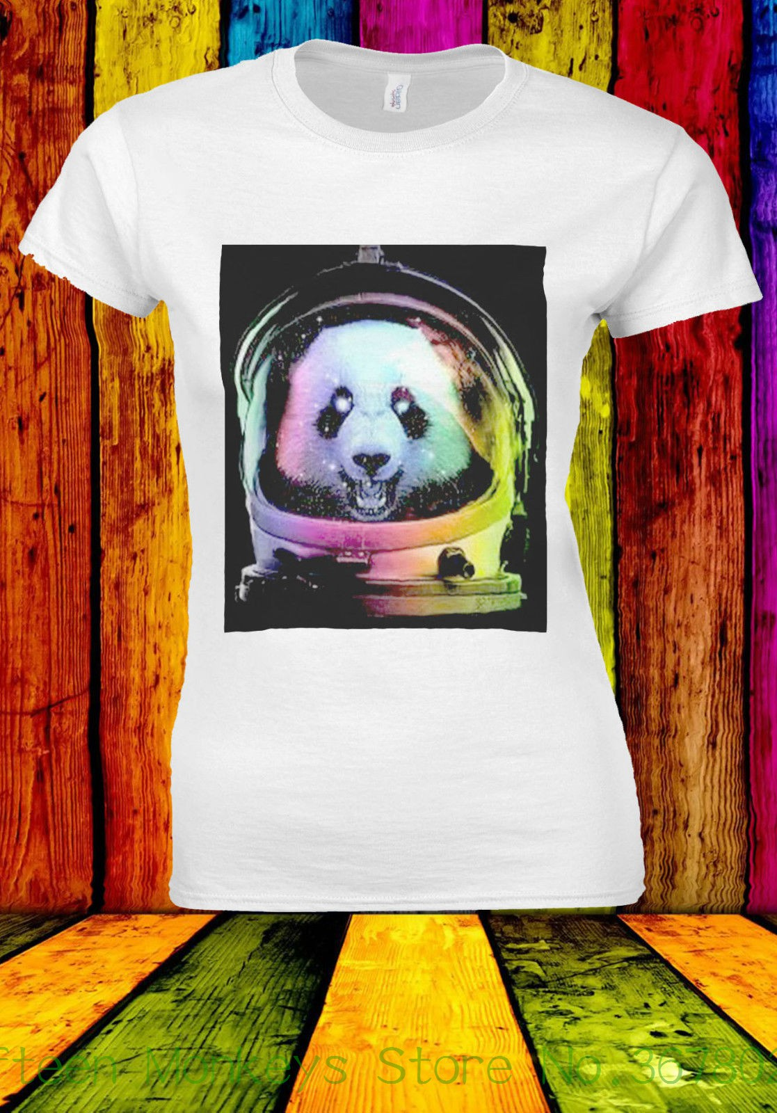 Astronaut Panda Bear Funny Space T-shirt Vest Tank Top Men Women Unisex 2450