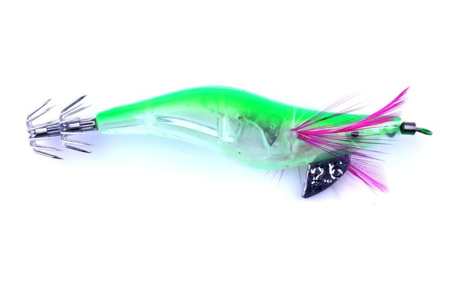 New 6pcs Light Fishing Lure LED Electronic Luminous Shrimp Lure 10.5cm 12g Cuttlefish Lures Squid Jigs Hook Fishing Tackle 3