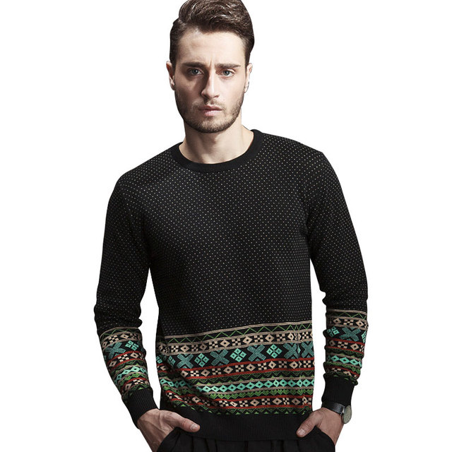 Free shipping 2015 New Arrival Hot Sale Men Fashion Korean Style O-neck Sweater Men's jersey Drop Shipping Asia S M L XL XXL