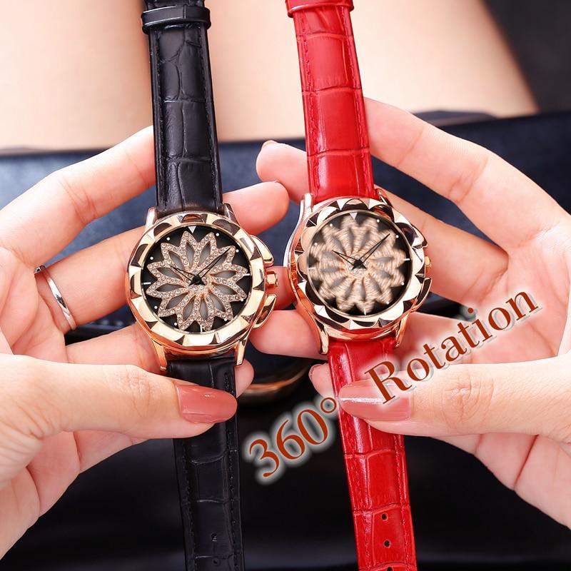 FUYIJIA վարդագույն ոսկե ժամացույցներ կին - Կանացի ժամացույցներ - Լուսանկար 5
