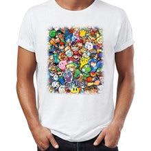 bbecd7f7a35 Men s T Shirt Super Smash Bros Mario Link Star Fox Megaman Funny Gaming Tee (China