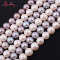 9.5mm 11mm AA Grade Nearround Freshwater Pearl Natural Stone Beads For Necklace Bracelets DIY Jewelry Making 14.5 Free Shipping