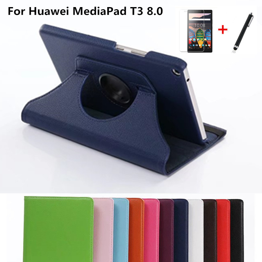 360 Degree Rotating Litchi Case For Huawei Mediapad T3 8.0