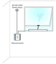 400 мм Автоматическая польза для открывания окон с напряжением 220 В  электропривод с дистанционным