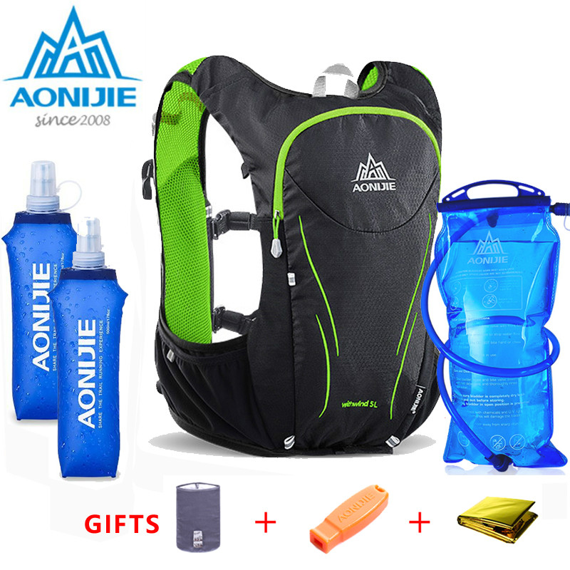 2018 AONIJIE Men Women Marathon Hydration Vest Pack For 1.5L Water Bag Cycling Hiking Bag Outdoor Sport Camp Running Backpack