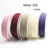 3MM SKY SYSTEM milan cord Jewelry & packing & shoes rope Necklaces & Bracelets cords 5meters/roll NO1~19