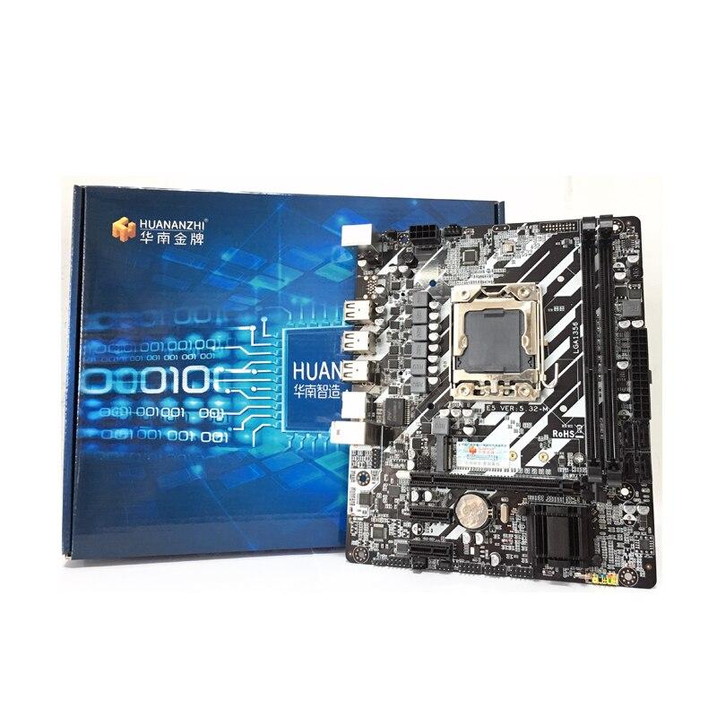 Huananzhi x9d lga1356 lga 1356 pc placas de desktop do computador placa-mãe adequado para desktop servidor ddr3 ecc reg ram