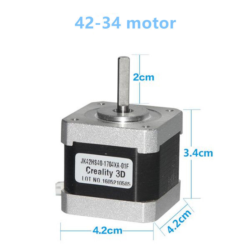 Creality 3D Printer X/Y/Z Axis Stepper Motor 1PCS/Lot 2Phase RepRap Stepper Motor 42-34/40/60 Motor For Creality Cr-10/10S