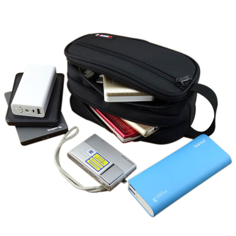 Portable Digital Accessories Travel Storage Bag For HDD U Disk USB Data Cable Phone Power Bank Electronic Gadget Organizer Pouch
